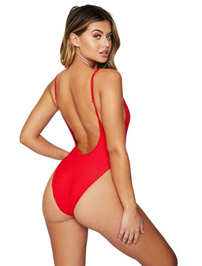 Frankies Bikinis Adele Cheeky One Piece Swimwear Red
