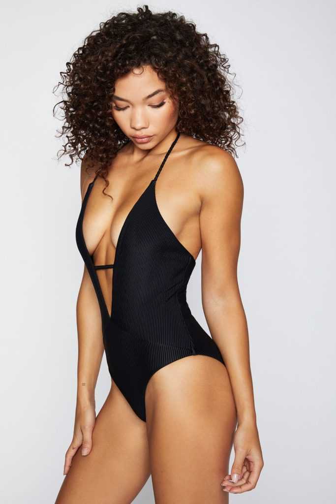 Frankies Bikinis One Piece Swimwear Black