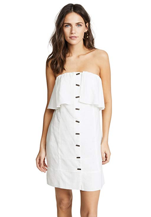 ViX Swimwear Sale Off White Strapless Beach Wedding Guest Dress