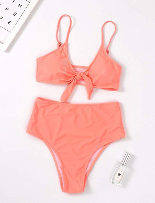 XUNYU Two Piece Swimsuit - High Waist with Push Up Tie Knot