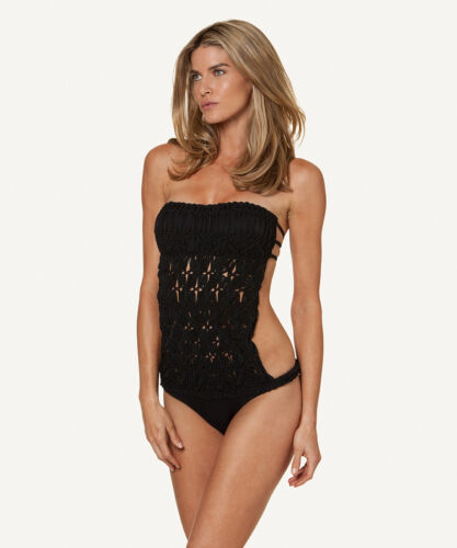 Solid Macrame One Piece Swimsuit by ViX Swimwear Brazilian Bikini